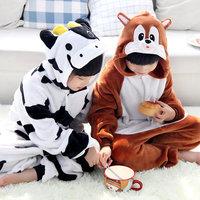 Hot Kids Children's Unisex Kigurumi Animal Cosplay Costume Onesies Pajamas Robes no shoes