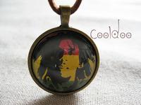Free shipping Bob Marley Raggae fashion retro necklace for women men boys girls