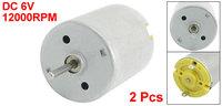 2pcs 2mm Shaft 24mm Diameter Electric Motor 12000RPM DC 6V