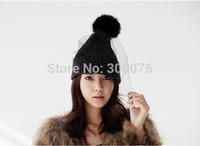 Women Girls Fashion Winter Warm Retro Ski knit veil Mesh net Hats Beanie Cap