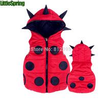 Children's clothing kids boys and girls waistcoat kids hooded vest dinosaur design bit dot Little Spring GLZ-S0317