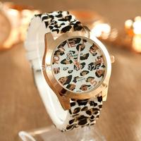 Hot New Fashion watches relogios femininos Casual leopard print Woman quartz watch Men women Silicone dress watch 2014