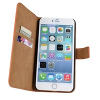 Genuine Leather Case for iPhone 6 Plus 5.5 inch wallet with Card Holder Stand Book 2014 New Arrival Free  shipping