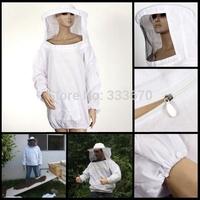 Beekeeping Jacket Veil Coat Bee Keeping Suit Smock Protective Dress Equipment Free Shipping