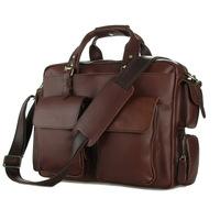 New arrivals 100% genuine leather Senior Crazy horsehide fashion Men handbag Classic vintage style Large capacity men bag