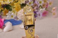 The new alloy diamond bracelet jewelry watch female fashion Ms high-grade pure gold wrist watch
