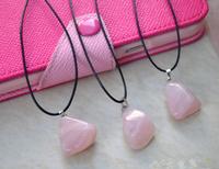 Natural Crystal Rose Quartz Stone pendant men women fashion jewelry pendant