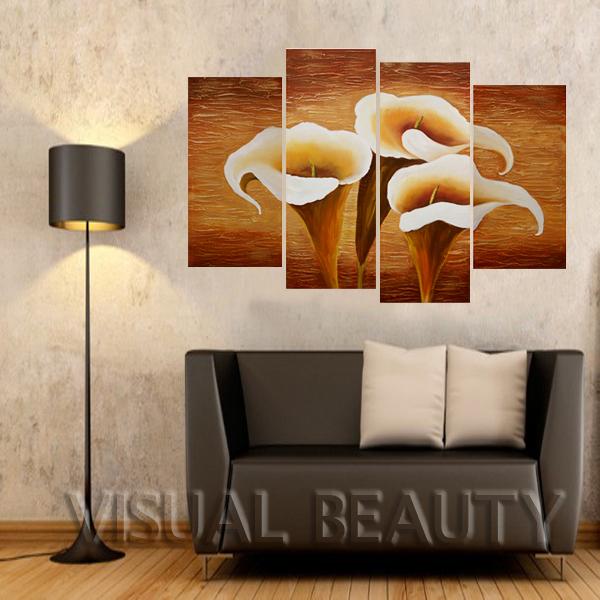 100% pintado à mão bem desenhados Pintura da flor de trombeta de Pintura Sala Decoração Oil ( Sem moldura )(China (Mainland))