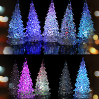 Mini Colorful LED ligh Night Light Bottomless Christmas tree Christmas Decoration Free Shipping