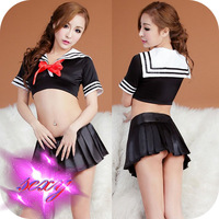 Free Shipping Cute school uniforms Temptation Nightclub Performance Cosplay Sexy Lingerie With Dancing Mini Skirts/Clothes-153