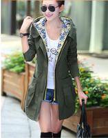 2014 Spring Autumn New Loose Thin Trench For Women European Style Fashion Lady's Plus Size Slim Thin Waistcoat Women Coat