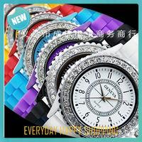 wholesale 14 colors Fashion diamond GENEVA Watch,Women casual Dress Watch Women Rhinestone Wristwatches