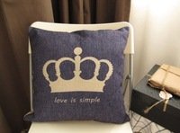"""PX1014 Simple Style Crown Love is Simple Throw Pillow Case Cushion Cover Square 18"""" 45cm"""