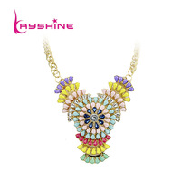 2014 New Coming Fashion Romantic Colorful  Hollow out Graceful Flower Collar Necklace For Women