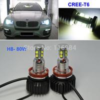 2PCS X White E92 H8 80W CREE-T6 Bulbs LED Marker Angel Eyes Halo Bulb Light