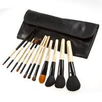 12 pcs Professional Makeup Brush Set tools Make-up Toiletry Kit Wool Brand Make Up Brush Set Case Free Shipping Z625