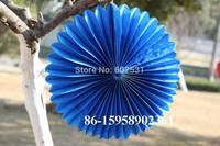 50pcs/lot  20 cm tissue paper fan Wedding party paper decoration wedding arrangement paper fan paper flowers balls