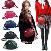 6 colors Vintage style fashion shoulder bag girl handbag purse cosmetic bag PU leather Korea Style Cute Women Messenger MINI bag