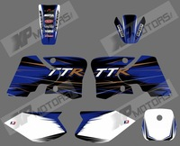 0565NEW TEAM GRAPHICS&BACKGROUNDS DECALS STICKERS Kits for YAMAHA TTR90 2000 2001 2002 2003 2004 2005 2006 2007  (black&white)