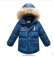 New 2014 Children's  Down Jackets For Boy Casual Children Outerwear For Winter