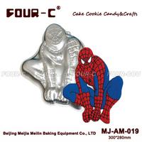 Spider-Man shape aluminum cake baking pan mold, baking supplies for cake decoration,baking tools