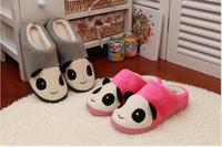 Super cute soft winter warm plush panda home indoor slippers,panda floor slipper for lovers,family & birthday gifts, 1 pair