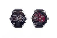 2014 new arrival famous luxury brand DZ, leather strap date display quartz watch, fashion digital display watches men