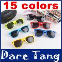 2014 Retro Unisex Sunglasses Popular Cool Mirror Sunglasses Unisex Colorful Frame Wayfarer Glasses 004