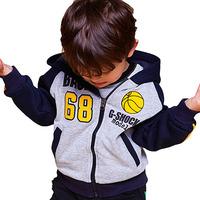 Children Boy Fashion Glasses Hat  Fleece Autumn Winter Long Sleeve Outerwear Coat  Hoodies Age 1Y-5Y