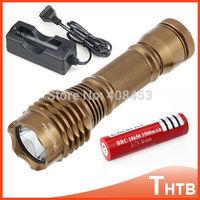 2000 Lumen CREE XM-L T6 LED Waterproof Lanterna Scuba Diving Flashlight Shocker Dive Torch Light Lamp+Charger 18650 Battery
