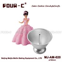Barbie Princess Skirt shape aluminum cake baking pan mold, baking supplies cake decoration,baking mold bakeware metal