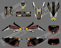 rock star 0571 New Style TEAM GRAPHICS BACKGROUNDS FOR HONDA CRF150 CRF230   CRF150F CRF230F 2008 -2014