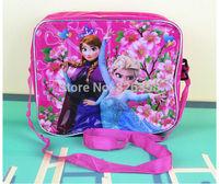 New kids Elsa Anna Shoulder bags/baby girls Frozen School bag/Children Cartoon princess Messenger Bags,23*19*7.5cm,2 styles