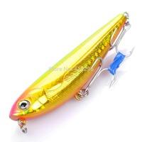Lifelike Fish Style Fishing Bait with Treble Hooks - Yellow Free Shipping 107911