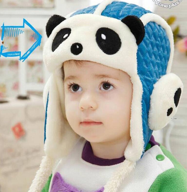 5pcs/lot winter fur hat boys bomber hat 2014 new earflap hat 0-4years free shipping(China (Mainland))