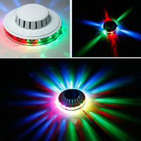 High Quality White Sunflower 48 LED RGB Magic Disco DJ Stage Lighting Bar Party Effect Light Lamp, Free & Drop Shipping