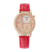 2014 new Eiffel Tower stainless steel mesh quartz watches, ladies watches apparel, ladies gifts free Straight Win