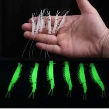 Frete grátis 35pcs New Sabiki suave Lure Pesca Rigs Luminosos Jigs Camarão isca isca macia Desgastado atração Falso(China (Mainland))