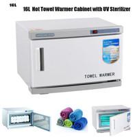 16L Electric Hot Towel Warmer Heater Cabinet UV Sterilizer for Spa Beauty Salon