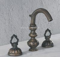 Two Handles Brass Bathroom Antique bathtub Faucet Mixer Faucet taps