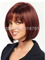 Mahogany Synthetic Straight Natural Woman's Short Wig free shipping