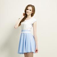 2014 new women lotus leaf lace dress fresh and beautiful elegant lady temperament free shipping