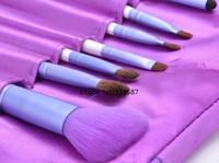 Hot Sale 7pcs Eye Brushes Set Eye Shadow Blending Pencil Brush Makeup Tools Cosmetic Brushes With Case b11 SV008756