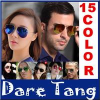 2014 Fashion Popular Cool Polarized Sunglasses Goggle AVIATOR Metal Eyewear Bat Mirror UV Protection Multi Color 005