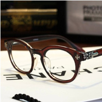 fashion brand punk men glasses frames 2014 Crowe heart rivets round eye glasses optical Cross eyewear optical frame oculos.y645