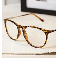 retro Big oval box glasses frame men 2014 fashion leopard nerd glasses metal frame hello kitty eyeglasses oculos de grau y269