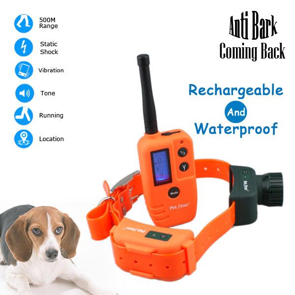 Free Shipping Multifunctional 500M Remote Pet Anti Bark Dog Traring Collar And Cat Toilet Training Collar(China (Mainland))