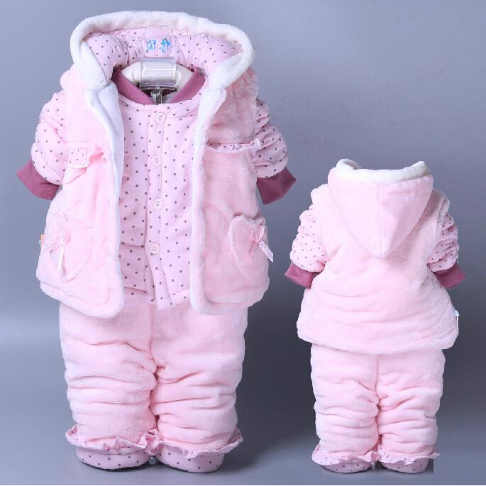 High Quality Winter Baby Boy Clothes Set Coat+ Pant+ Vest 3pcs Set Girls Clothing Sets Toddler Boys Clothing Free Shipping(China (Mainland))