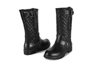 CC boots women genuine leather ankle short boots  women mid low heels brand black free shipping 2014 autumn and winter