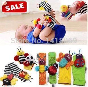 2407 sonho SkyHot vendas DB05 bebê chocalho brinquedos do bebê Lamaze jardim Bug mão wrist e meias pé grátis frete & Drop shippingNicel(China (Mainland))